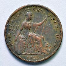 GB GEORGE IV COPPER FARTHING 1825 ++ HIGH GRADE!! ++ [969-02]