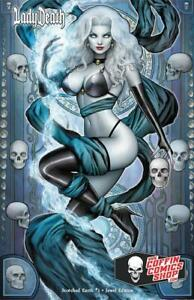 Lady Death Scorched Earth #1 JEWEL Edition Variant Cover by Nate Szerdy Signed