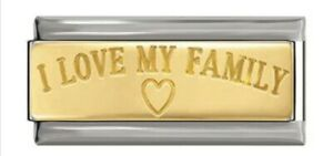 I Love My Family -Charm-Fits Nomination- NEW in Gift Pouch -NC150