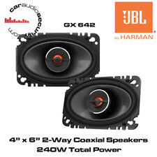 "JBL GX642 - 4x6"" 2-Way Car Coaxial Speakers 360 Watts Total Power"