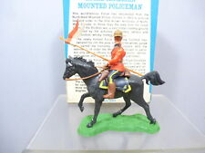 """BRITAINS """"SWOPPET """" MODEL No.699 ROYAL CANADIAN MOUNTED POLICE TROOPER MIB"""