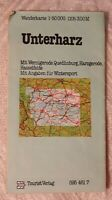DDR 1982 Wanderkarte Unterharz Wernigerode Harzgerode Hasselfelde Wintersport