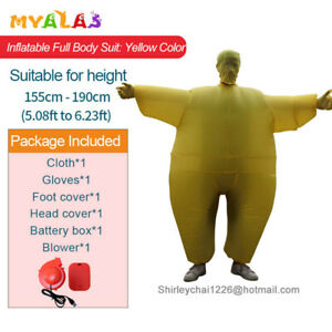 Adult Full Body Chub Suit Inflatable Halloween Cosplay Costume Jumpsuit Blow Up