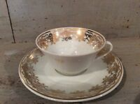 Limoges Demi- Tasse coffee cup and saucer Heavily Gilded