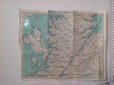 Inverness, Il Canale Di Caledonia, ecc, C1950 Vintage Mappa, Bartholomew, ORIGINALE
