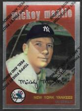 ***1996 Topps Mickey Mantle Finest Reprint #9 - 1959 Topps #10