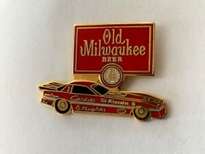 NHRA Old Milwaukee Candies & Hughes Pin