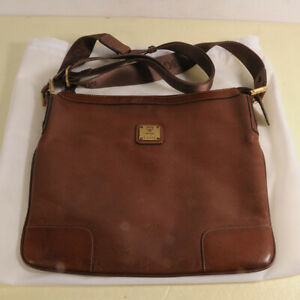 AUTHENTIC MCM Leather Messenger Cross Bag + Dust Bag