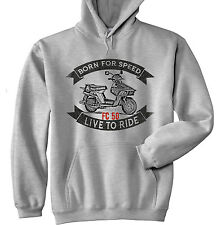 HONDA BEAT FC 50 - NEW  GREY HOODIE - ALL SIZES IN STOCK