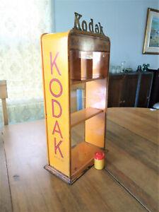 Vintage Kodak Verichrome Film Orange Tin Litho Countertop Advertising Display