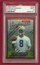 1996 FINEST with COATING #243 MARVIN HARRISON ROOKIE RC PSA 9 MINT COLTS