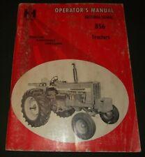 International Harvester 856 Tractor Operator Operation & Maintenance Manual Book