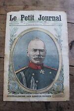 Petit journal dibujada nº1373 1917 General Alexeief Ejércitos Rusas