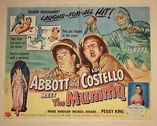 Abbott & Costello Meet the Mummy Half Sheet 1955    22 x 28