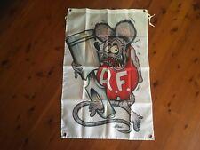 outlaw biker poster mancave bar flag man cave banner US pool room rat fink Roth