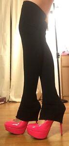 SEXY BLACK BIKER GOTH PUNK GOGO THIGH HIGH LEG WARMERS LONG FOOTLESS STOCKINGS