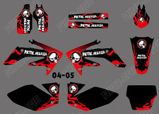 TEAM GRAPHICS BACKGROUNDS DECALS STICKERS FOR HONDA CRF250 CRF250R 2004 05 D6
