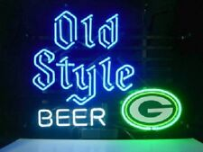 NFL Green Bay Packers Old Style Real Neon Sign Bed Room Home Decor Beer Light
