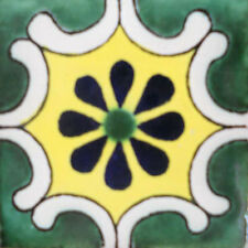 90 MEXICAN CERAMIC TILES WALL OR FLOOR USE CLAY TALAVERA MEXICO POTTERY #C096