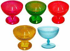 Set of 4 Plastic Bright Colours Ice cream bowls Sundae Dishes
