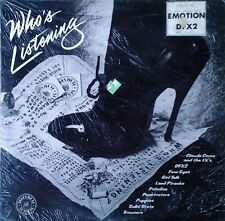 WHO'S LISTENING -  GOVT. LBL- 1982 LP -RED WAX- DFX2, PALADINS, PUPPIES - SEALED