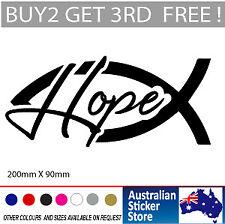 Jesus Fish HOPE symbol Christian sticker