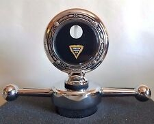 "Hudson Super Six Boyce Senior Motometer 3-3/8"" & Dogbone Radiator Cap Chrome"