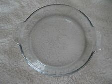 Vintage Anchor Hocking Fire King Clear Glass 9.5 INCH  Baking Pie Plate NEW