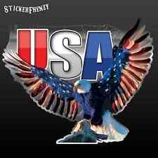 Eagle USA Decal #FS229 Car truck laptop vinyl bumper sticker patriotic America