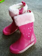 Clarks Girl Winter Boots Shoes infant 7 g Pink new