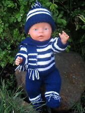 Jo Jo KNITTING PATTERN for making Baby Born Doll Clothes Sports Supporter Outfit