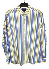 Faconnable Mens XL Striped Button Front Shirt