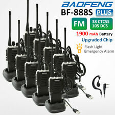 10x BaoFeng BF-888S Plus Walkie Talkies Long Range Two Way Ham Radio VOX Scanner