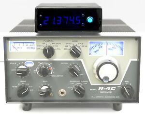 CUSTOM DIGITAL FREQUENCY DISPLAY for DRAKE R-4 R-4A R-4B R-4C T-4X - BLUE LED