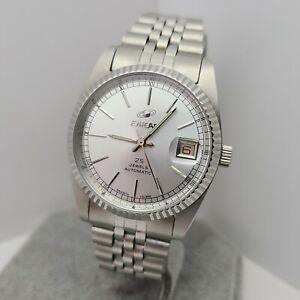Vintage ENICAR 25 Jewels Men's Automatic watch ETA 2783 date swiss made 1970s