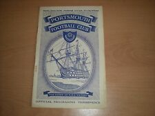 Portsmouth V Peterborough United F.A.Cup 3rd Rd. Football Programme -  7/1/1961