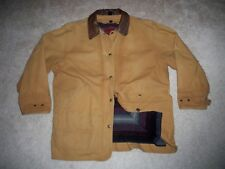 Vintage USA Made LL BEAN Blanket Lined Cotton Barn Chore Coat Jacket Women's L