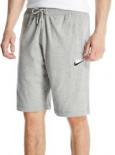 Mens Nike Cotton Sweat Shorts Pants Sports Gym Summer Knee Length - Grey XL