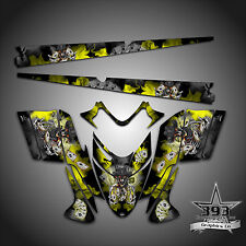 Polaris IQ RMK Shift Dragon Graphics Decal Wrap 05-12 with Tunnel Outlaw Yellow