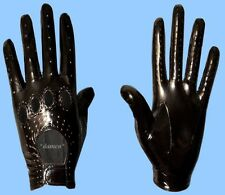 NEW MENS size 8 BLACK GENUINE PATENT LAMBSKIN LEATHER DRIVING GLOVES