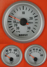 S4 Universal Oil Pressure + Water Temp + Boost gauge Psi kit/Project /Track car