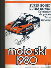 1980 MOTO-SKI SNOWMOBILE ULTRA & SUPER SONIC MANUAL (778)