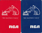 Vintage Swap / Playing Cards - 2 SINGLE- RCA ADVERTS WITH DOG