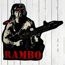 Rambo with Gun Embroidered Patch Big for Back First Blood 2 Stallone Trautman