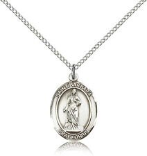 """Saint Barbara Medal For Women - .925 Sterling Silver Necklace On 18"""" Chain - ..."""