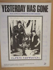 song sheet YESTERDAY HAS GONE Cupids Inspiration 1967