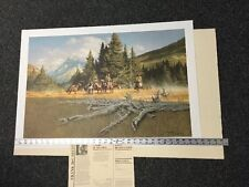 """Frank McCarthy --TIME OF DECISION 1980 Trappers SN Lithograph:  NIF/COA >30"""""""