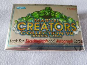 MARVEL CREATORS COLLECTION 1998 FLEER SKYBOX set of 72 cards. BRAND NEW & SEALED