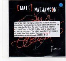 (FB873) Matt Nathanson, Faster - 2012 DJ CD