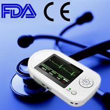 Handheld Electronic Stethoscope Pulse Heart Rate Monitor Clinic Home Use ECG EKG